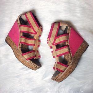 Splendid Cork Wedge Sandals